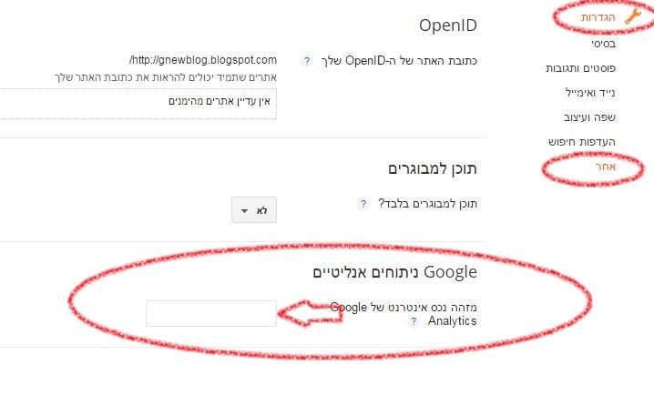 איך מוסיפים גוגל אנליטיקס לבלוג