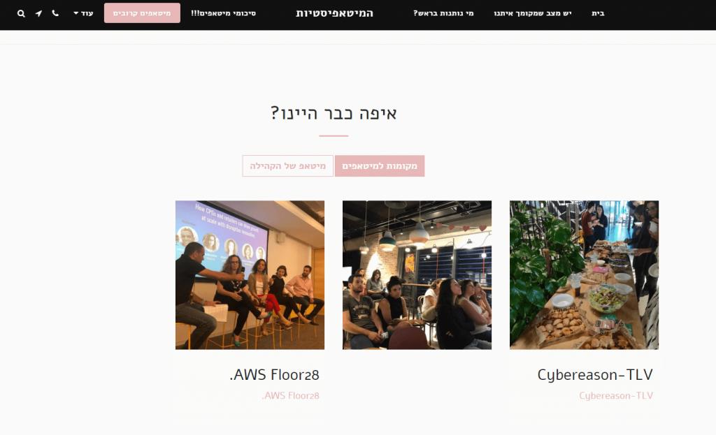 המיטאפיסיות בניית אתר למנהלי קהילות (1)